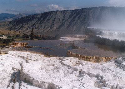 photo of Mammoth Hot Springs, Yellowstone National Park, by John Hunter