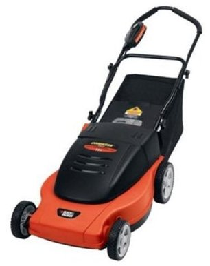 photo of Black and Decker cordless lawnmower