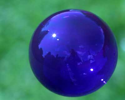 photo of blue bubble