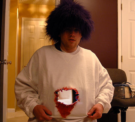 photo of gaping hole Halloween costume by Evan Booth, 2006