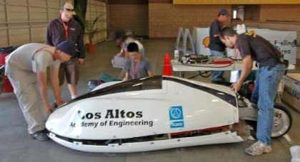 photo of Los Altos High School's Academy of Engineering vehicle
