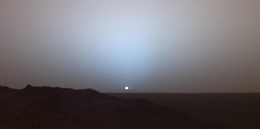 photo of sunset on Mars