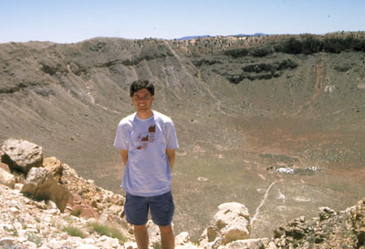 John Hunter at Meteor Crater