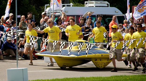photo of UMichigan's Solar Car