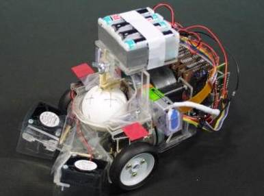 photo of moth controlled robot
