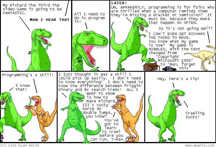 Programming Dinosaurs - comic