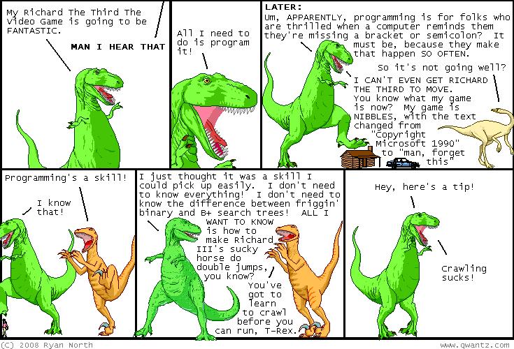 Programming Dinosaurs - comic