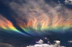 Rainbow like clouds
