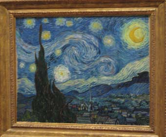 Photo by John Hunter of Starry Night by Vincent Van Gogh
