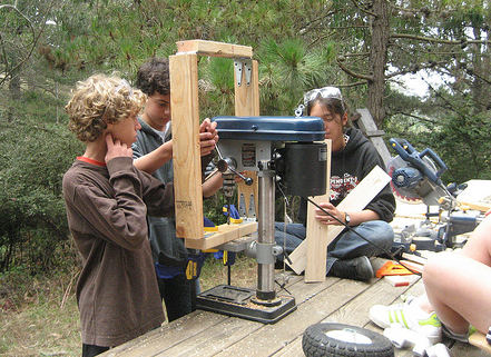 photo of Drilling at the Tinker School