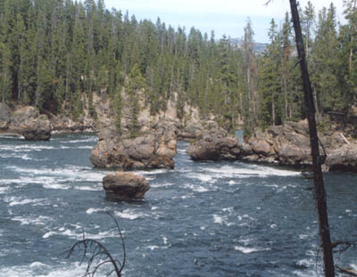 photo of river in Yellowstone National Park by John Hunter
