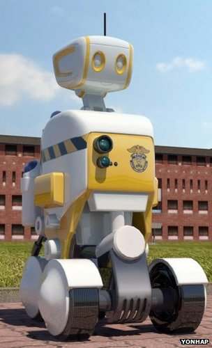 photo of robot prison guard