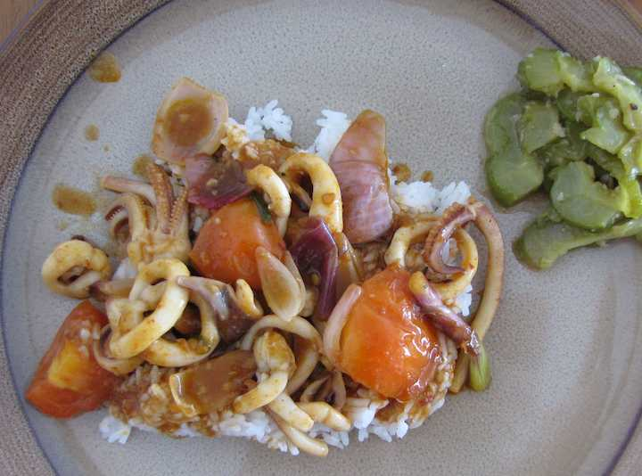 photo of squid dinner
