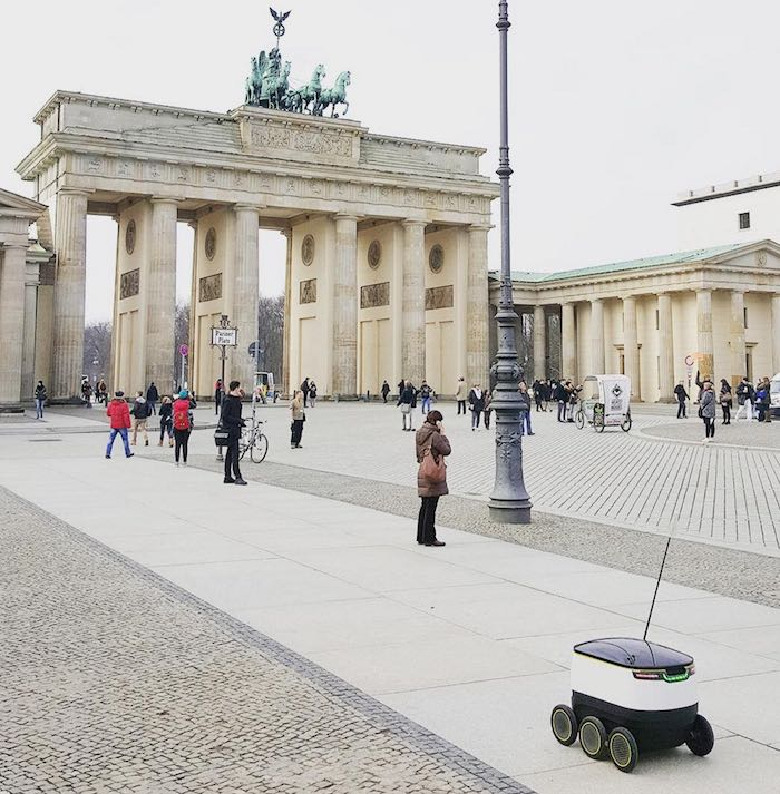 a starship robot at Branderburg Gate, Berlin