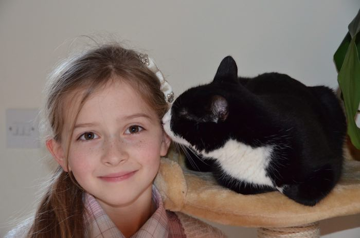 Mia and her wonderful cat Pippa